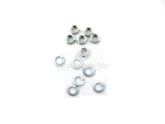 Nut M 8mm and shim screw for vespa rim