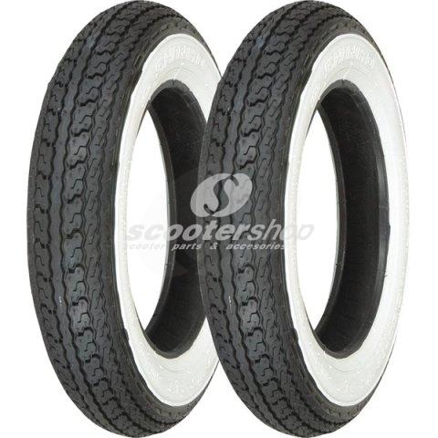 Tire Shinko 3.00-10 SR550 with white wall tubetype (1 piece)