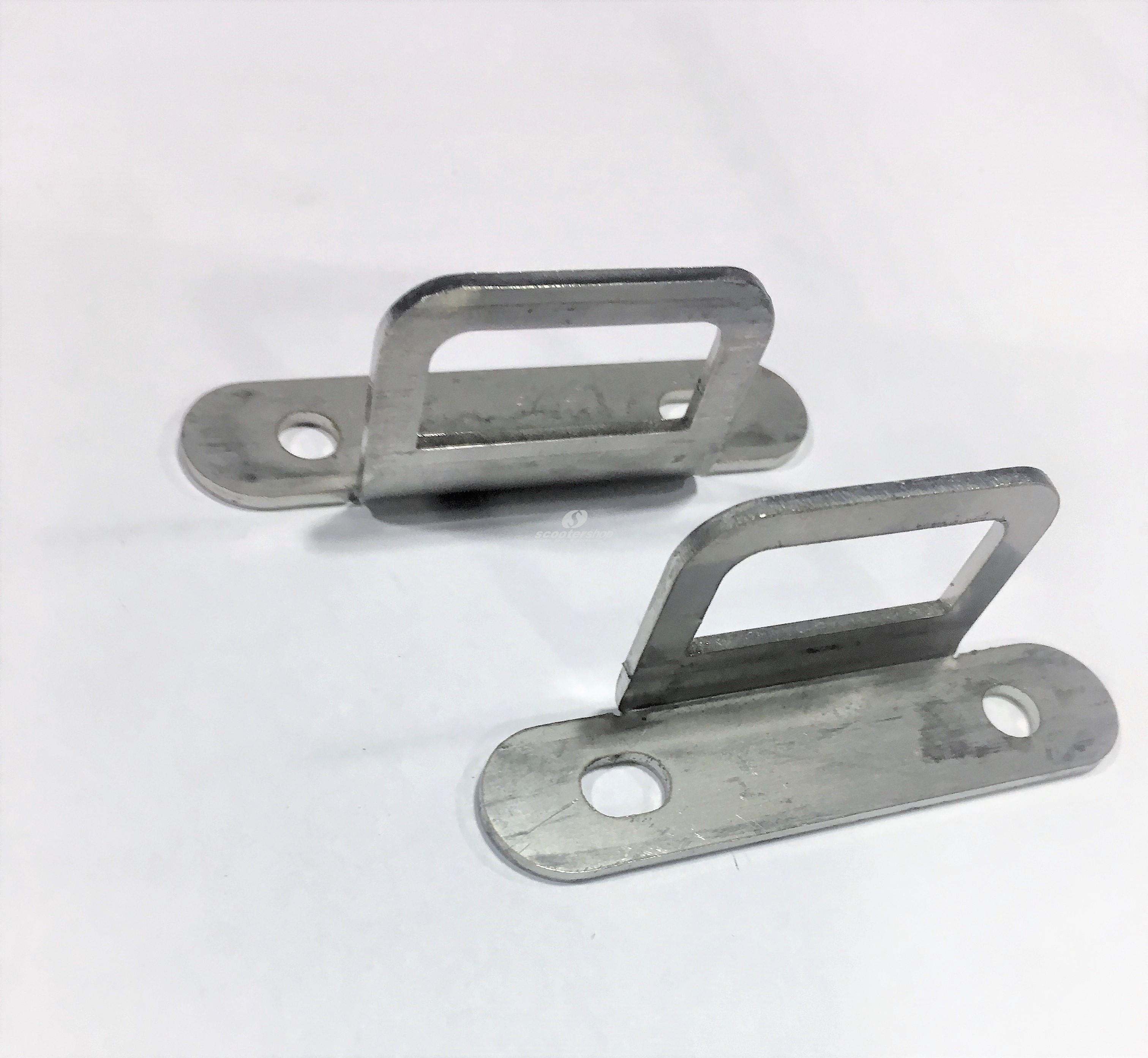 Pair of luggage hook stainless steel floor board, for Vespa Smallframe and largeframe .