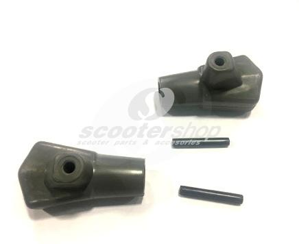 Center stand feet black with pins for Lambretta LI , Special , GP, DL, SX, TV, D: 16 mm.