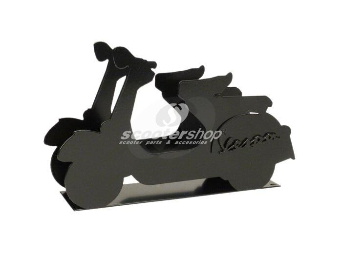 "Letter Holder ""Vespa"",  black, metal,  250x150x60 mm.  Perfect for gift !!"