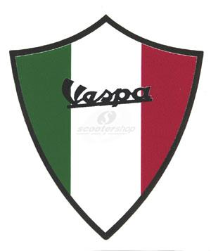 Sticker vespa - italian flag