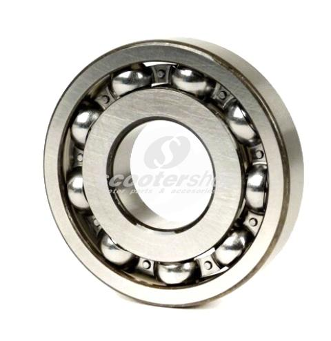 Bearing Crankshaft clutch side with 9 balls for Vespa PE-Cosa-125-150-200. Dimensions 25x62x12 mm.