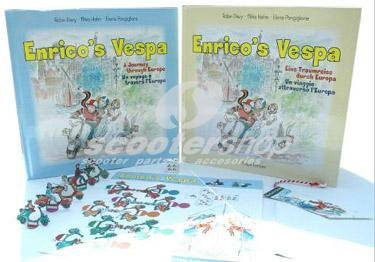 Book Enrico's Vespa - Children's tale - Collector's item
