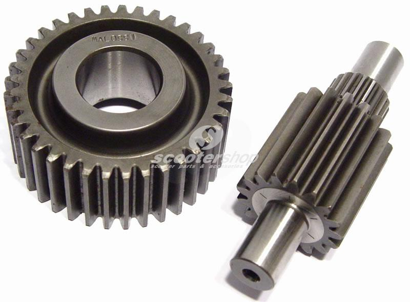 Secondary gearing Malossi for Gilera - Piaggio 125-180cc 4T (Leader engines) (15/41 cogs)
