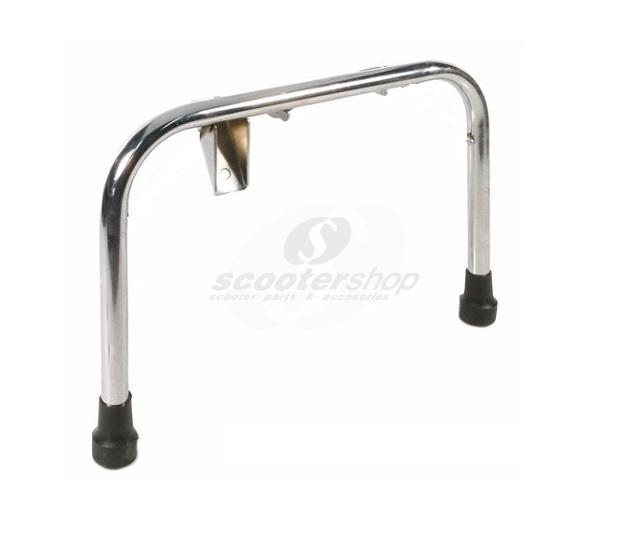 Centre Stand for Vespa PX80 -200/PE/Lusso/`98/MY/T5, also for LML Star 125 - 200 2T/4T,  Ø 22 mm, reinforced, chrome,  incl. stand feet