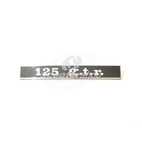 "Badge ""125 g.t.r rear for Vespa 125 GTR"