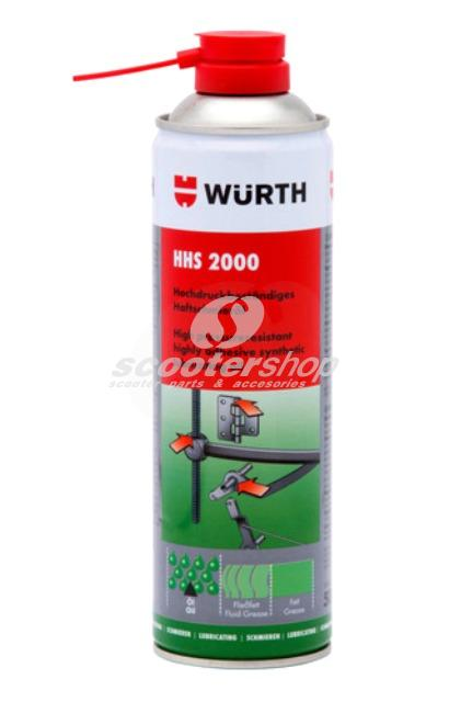Wurth HHS 2000 Spray 500ml, synthetic Lubricating Oil.